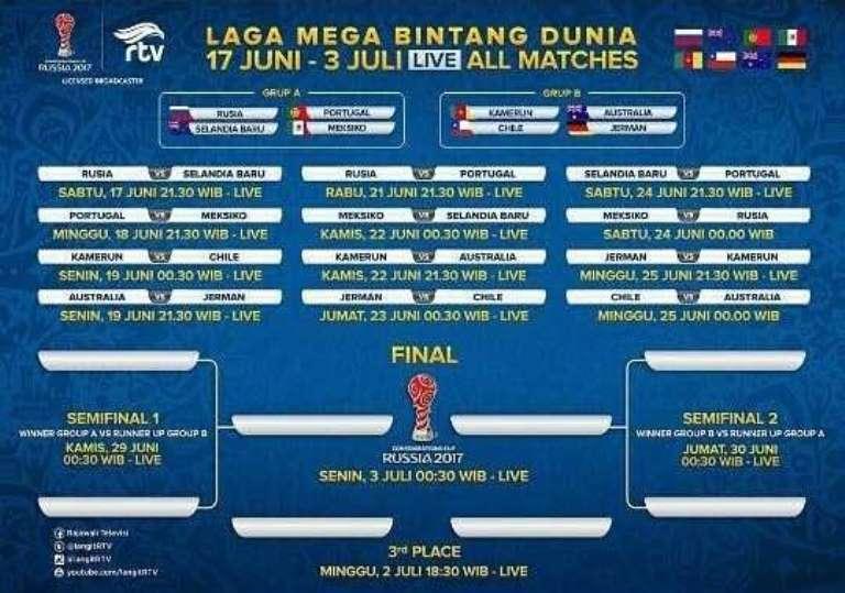 Jadwal Live Streaming Final Piala Dunia Rusia Di